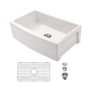 The Best Farmhouse Sink Option: Sarlai 30 Inch Fireclay White Farmhouse Sink