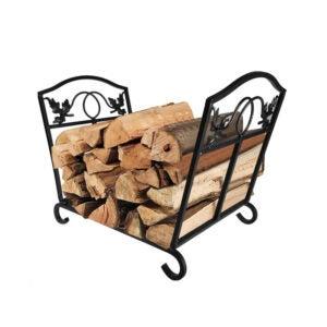 The Best Firewood Rack Option: Amagabeli Fireplace Log Holder Wrought Iron Basket