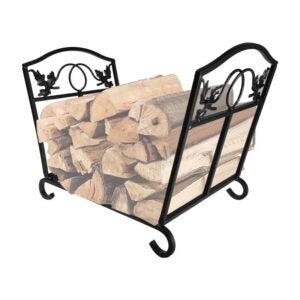 The Best Firewood Rack Options: Amagabeli Fireplace Log Holder Wrought Iron Basket