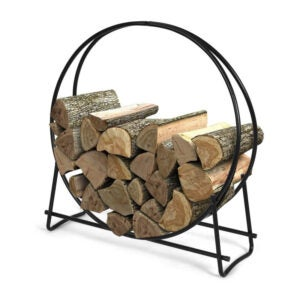 The Best Firewood Rack Options: Goplus Firewood Log Hoop, Tubular Steel Wood Rack