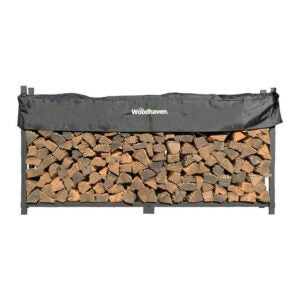 The Best Firewood Rack Options: The Woodhaven 8 Foot Firewood Log Rack with Cover