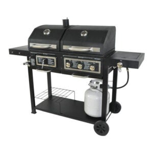 The Best Gas Grill Option: Blossomz Dual Fuel Combination Charcoal Gas Grill