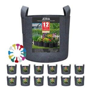 最佳种植袋选择:JERIA 12包7加仑蔬菜花植物袋