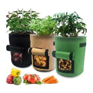 最佳种植袋选择:尼可3个6.5加仑的花园盒