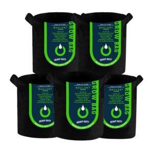 最好的种植袋选择:丰富的系统5包5加仑的种植袋