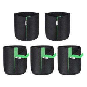 最佳种植袋选择:VIVOSUN 5包1加仑种植袋