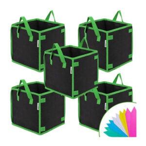 最佳种植袋选择:VIVOSUN 5包3加仑方形种植袋
