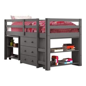 The Best Kids Bed With a Desk Option: Donco Kids Low Study Loft Bed