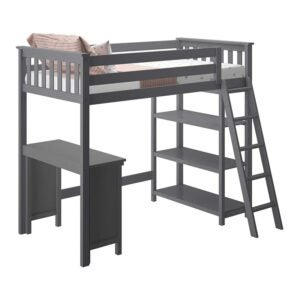 The Best Kids Bed With a Desk Option: Max & Lily Solid Wood Twin-Size High Loft Bed