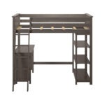 The Best Kids Bed with Desk Option: Max & Lily Solid Wood Twin-Size High Loft Bed