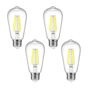 The Best Light Bulbs for Bathroom Options: Ascher Dimmable Vintage LED Edison Bulbs, 6W