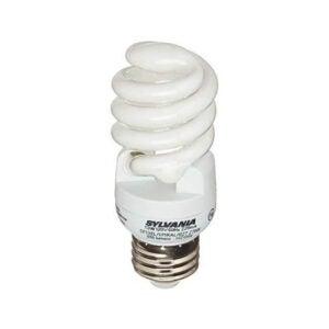 The Best Light Bulbs for Bathroom Options: Sylvania 13W CFL T2 Spiral Light Bulb, 60W Equivalent