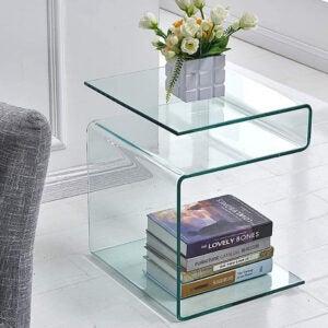 最好的床头柜选项:奉化S形玻璃床位床位