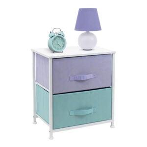 最好的床头柜选项:索勒布斯床头柜与2个抽屉