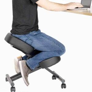 最佳背部疼痛办公椅选择:龙由VIVO人体工学跪椅