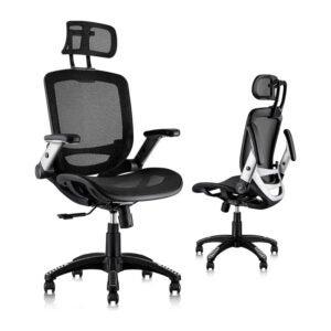 背部疼痛最佳办公椅选择:Gabrylly人体工程学网状办公椅