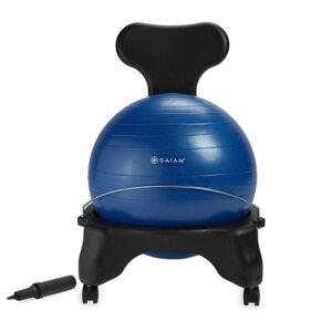 背部疼痛最佳办公椅选择:Gaiam经典平衡球运动人体工程学椅子