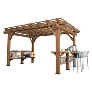 The Best Pergola Kit Option: Backyard Discovery 14 ft x 10 ft Oasis Cedar Pergola