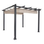 The Best Pergola Kit Option: Coolaroo Aurora 9' W x 9' D Aluminum Pergola