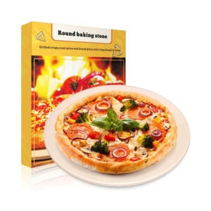 The Best Pizza Stone Option: Haweko Pizza Stone, Round for Grill and Oven