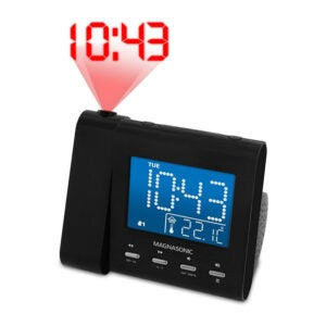 The Best Projection Alarm Clock Options: Magnasonic Projection Alarm Clock with AMFM Radio