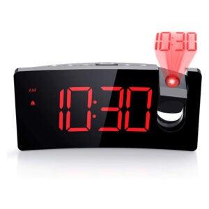 The Best Projection Alarm Clock Options: PICTEK Projection Alarm Clock, 4 Dimmer, Digital