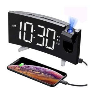The Best Projection Alarm Clock Options: PICTEK Projection Digital Clock Radio, Phone