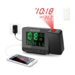 The Best Projection Alarm Clock Options: SMARTRO SC31B Digital Projection Alarm Clock
