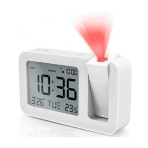 The Best Projection Alarm Clock Options: TedGem Projection Alarm Clock for Bedrooms