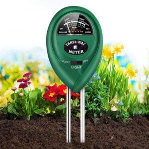 最好的土壤水分仪表选项:五合容土壤pH米,3合1土验仪