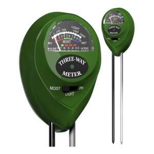 最好的土壤水分仪表选项:Trazon土壤pH米3合1土壤测试仪