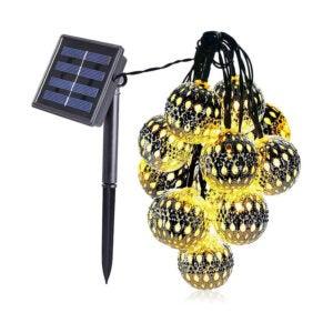 The Best Solar String Light Option: dephen Moroccan Solar Hanging Lights
