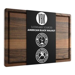 The Best Wood Cutting Board Options: Virginia Boys Kitchens Extra Large Walnut Board