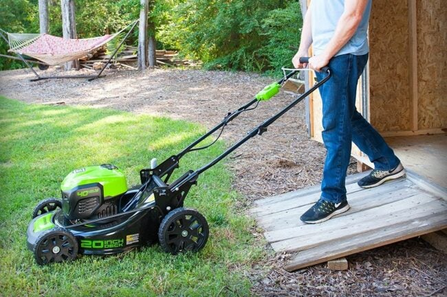 The Battery Powered Lawn Mower Option