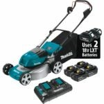 "The Best Battery Powered Lawn Mower Options: Makita 18V X2 LXT Cordless 18"" Lawn Mower Kit"