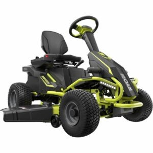 The Best Battery Powered Lawn Mower Options: RYOBI 38-Inch Battery Electric Riding Lawn Mower