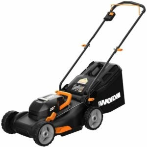 "The Best Battery Powered Lawn Mower Options: WORX WG743 40V 17"" PowerShare Lawn Mower"
