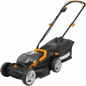 "The Best Battery Powered Lawn Mower Options: WORX WG779 40V Power Share 14"" Lawn Mower"