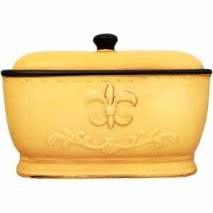The Best Bread Box Option: A.C.K. Trading Co. Tuscany Fleur De Lis Bread Box