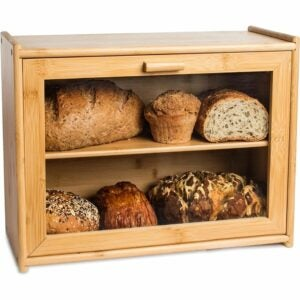 The Best Bread Box Option: Laura's Green Kitchen Double Layer Bread Box