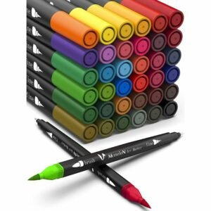 The Best Colored Markers Options: Coloring Markers Set for Adults Kids Dual Brush Pens