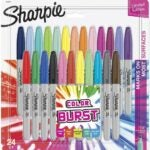 The Best Colored Markers Options: SHARPIE Color Burst Markers, Fine Point, 24 Count