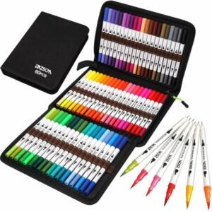 The Best Colored Markers Options: ZSCM Coloring Art Markers Set, 60 Colors