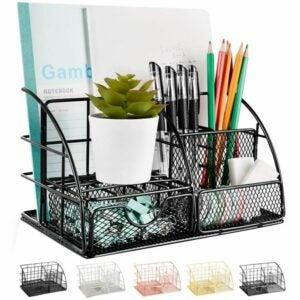 最佳办公桌整理器选择:AUPSEN网格办公用品办公桌整理器