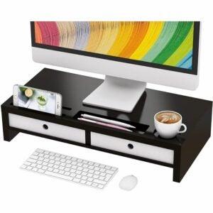 最好的桌面组织者选项:Bambloom Monitor Stand Riser Desk Shelf组织者
