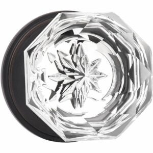 The Best Door Knobs Options: KNOBWELL Providence Octagon Glass Door Knob Set