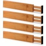 The Best Drawer Organizers Options: Bambüsi Bamboo Adjustable Drawer Dividers Organizers