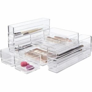 The Best Drawer Organizers Options: STORi Clear Plastic Makeup & Vanity Drawer Organizers