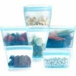 最佳冷冻袋选择:Xomoo可重复使用的食品容器硅胶袋