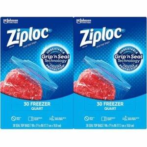 最好的冷冻袋选项:Ziploc冷冻机袋,具有新的握把'n密封技术